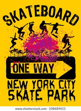 skate park - stock vector