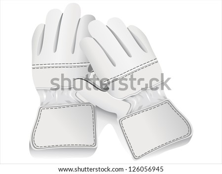 ski gloves - stock vector