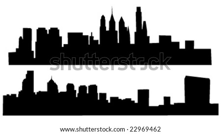 2 skylines of philadelphia