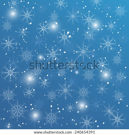 Snowflakes on a blue background. eps10 - stock vector