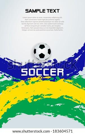 Soccer ball Poster Soccer ball banner design / White background with soccer ball   - stock vector