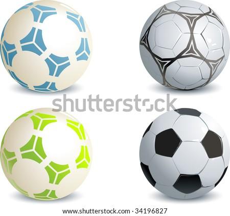 Soccer balls - stock vector