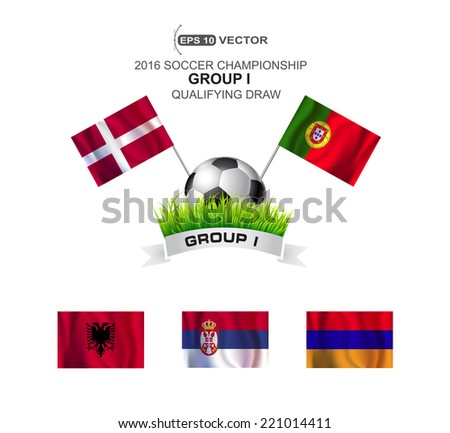 2016 SOCCER CHAMPIONSHIP GROUP I QUALIFYING STAGE - stock vector