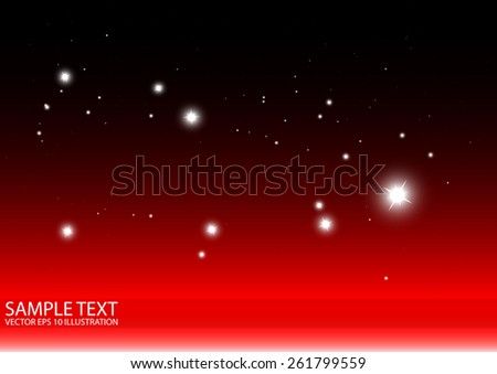 Sparkling abstract vector red background illustration - Abstract red sparks and glitters vector background illustration - stock vector