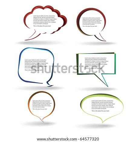 Speech bubbles vector - stock vector