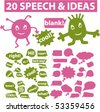 20 speech & ideas signs. vector - stock vector