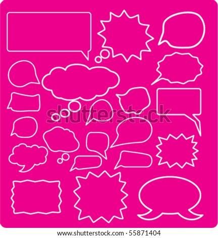 20 speech & ideas signs. vector - stock vector