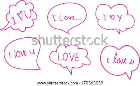 Speech love  - stock vector