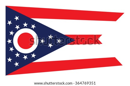 vector state ohio flag stock vector 456189517 - shutterstock