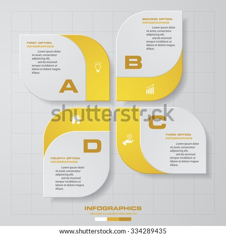 4 steps design Infographic template for business concept. - stock vector