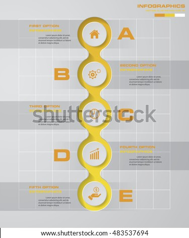 5 steps diagram template graphic website stock vector 483537694 5 steps diagram template graphic or website layout vector step by step idea ccuart Choice Image