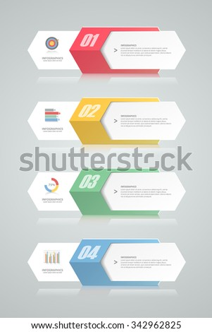 4 steps infographic template. can be used for workflow layout, diagram, number options, progress, timeline - stock vector