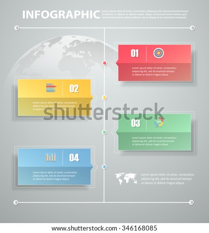 5 steps infographic template. can be used for workflow layout, diagram, number options, progress, timeline - stock vector