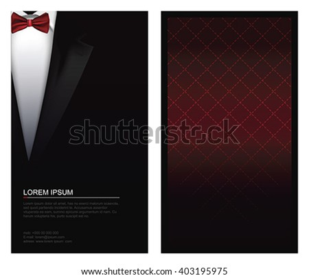 Suit background with bow tie - stock vector