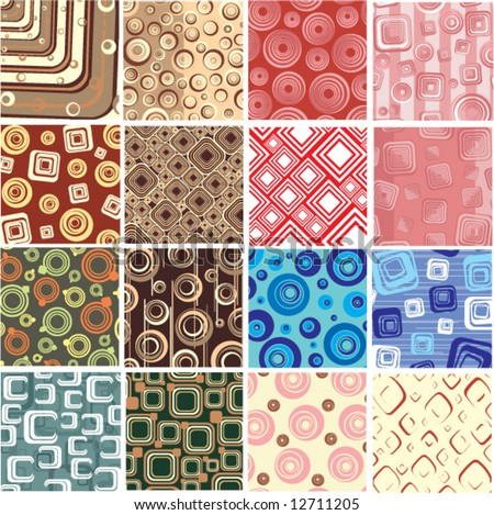 16 Super stylish backgrounds.Vector. - stock vector