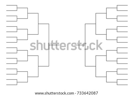 32 team tournament bracket templates stock vector for Game bracket template