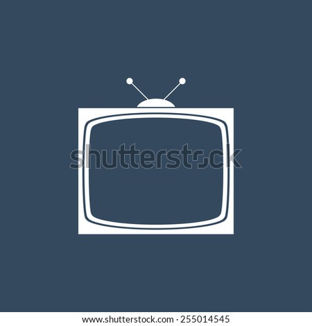 Television flat icon. Modern flat icon for Web and Mobile Application. EPS 10.  - stock vector