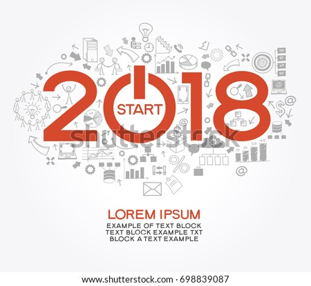 2018 text design on creative business stock vector for Architecture 2018
