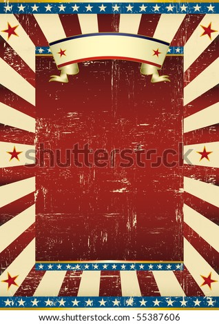 Textured american background. A grunge background with a texture for your advertising - stock vector