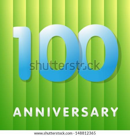 100th Anniversary - stock vector