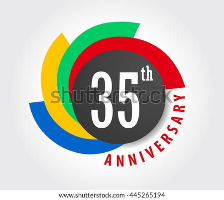 35th Anniversary Celebration Background 35 Years Stock Vector