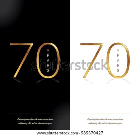 70th anniversary decorated greetinginvitation card template stock 70th anniversary decorated greetinginvitation card template stopboris Images