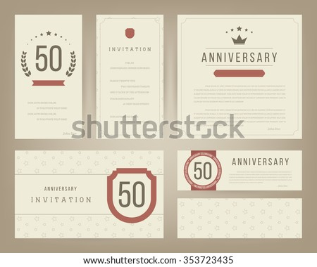 Wedding Anniversary Invitation Stock Images, Royalty-Free Images