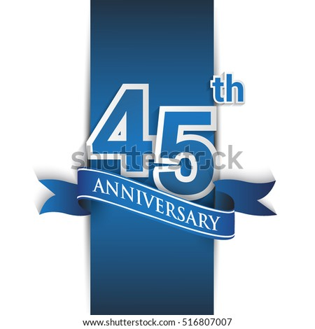 45th anniversary logo blue red colored stock vector royalty free 45th anniversary logo blue and red colored vector design on white background template for stopboris Images