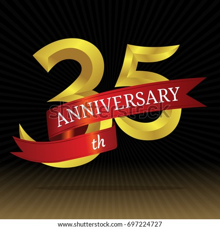 35th Anniversary Vector Symbol Stock Vector 697224727 Shutterstock