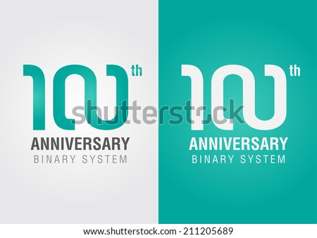 100th anniversary with an infinity symbol. Creative design. Business success. - stock vector