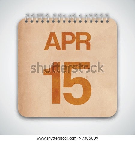 15th April Day Vector - stock vector