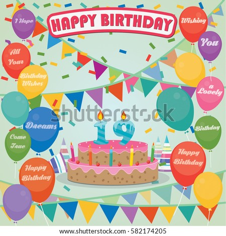19th Birthday Stock Images Royalty Free Images Amp Vectors