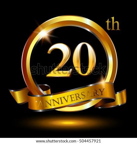 20th Golden Anniversary Logo 20 Years Stock Vector 2018 504457921