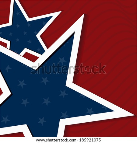 4th July, American Independence Day vector background with star. - stock vector