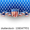 4th July background, EPS 10, contains transparency - stock vector
