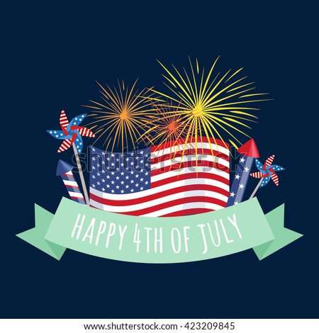 4th july celebration, 4th july independence, 4th july usa, 4th july flag, 4th july holiday, 4th july day, 4th july america, 4th july american, 4th july red, 4th july blue, 4th july vector, 4th july  - stock vector
