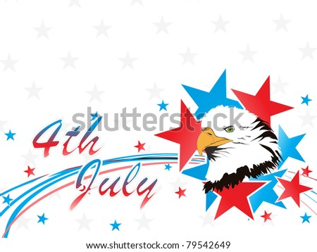 4th july concept background with eagle