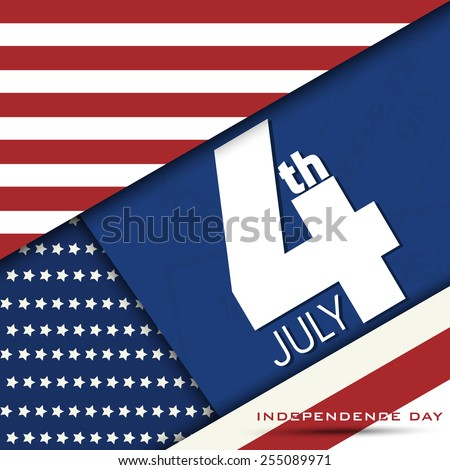 4th July, Independence Day of American abstract background Illustration.... - stock vector
