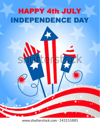 4th july independence day - vector illustration - stock vector