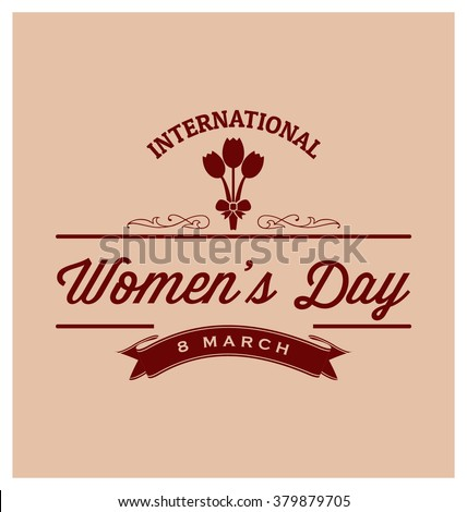 8th March - International Women's Day Typographic Vector Design