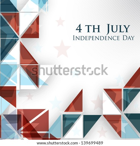 4th of July, American Independence Day abstract background in nation flag colors.