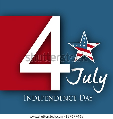 4th of July, American Independence Day background with star. - stock vector