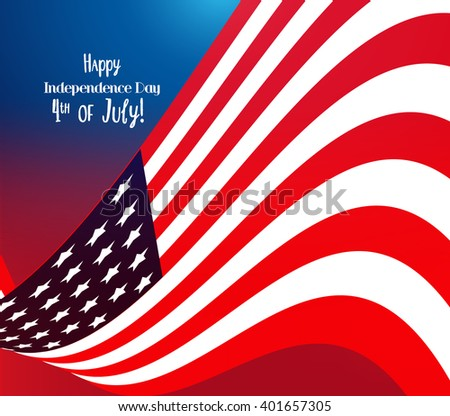 4th of July, American Independence Day celebration background - stock vector