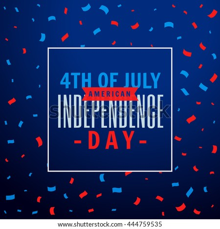 4th of july celebration party background - stock vector
