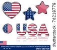 4th of July collection of design elements, eps10 illustration - stock vector