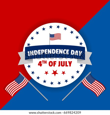 4th july usa independence day vector stock vector 669824203 4th of july usa independence day vector illustration creative background banner and greetings m4hsunfo Image collections