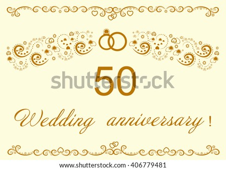 Wedding anniversary invitation stock images royalty free images 50th wedding anniversary invitation stopboris Choice Image