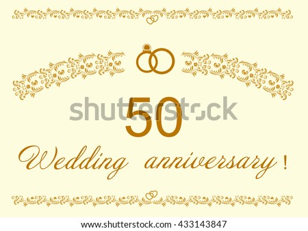 50th Wedding Anniversary Invitation.