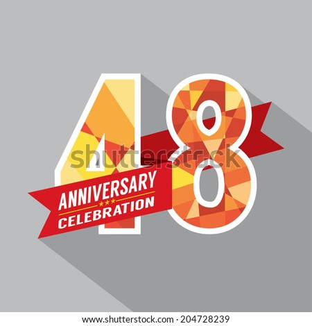 48th Years Anniversary Celebration Design