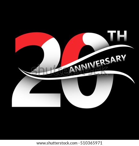 20th Years Anniversary Logo Sign On Stock Vector 510365971
